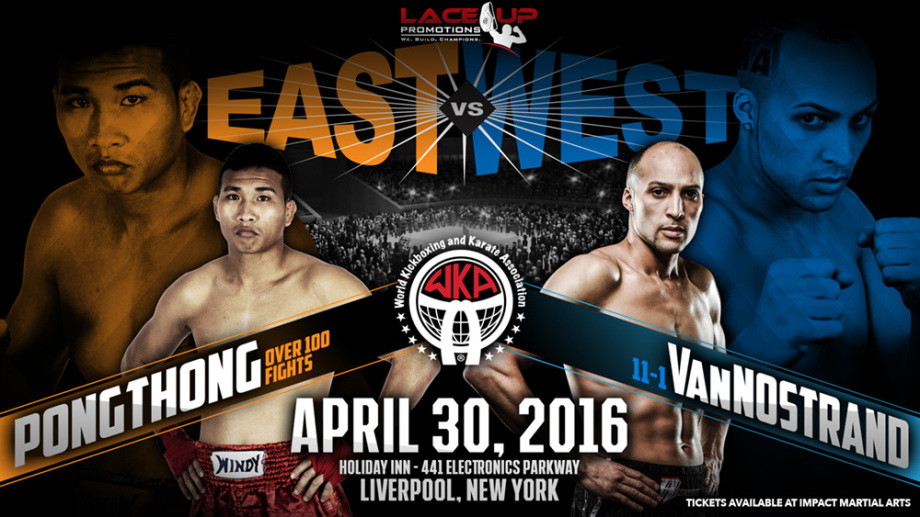 east vs west kickboxing event, lace up promotions