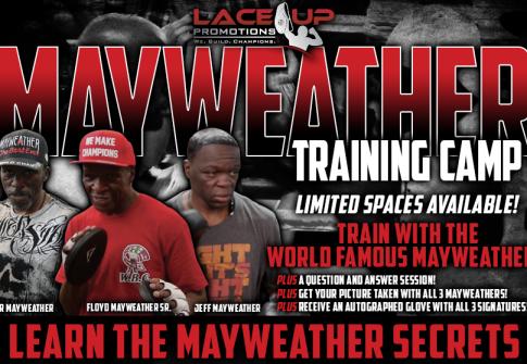 mayweather training camp program, lace up promotions