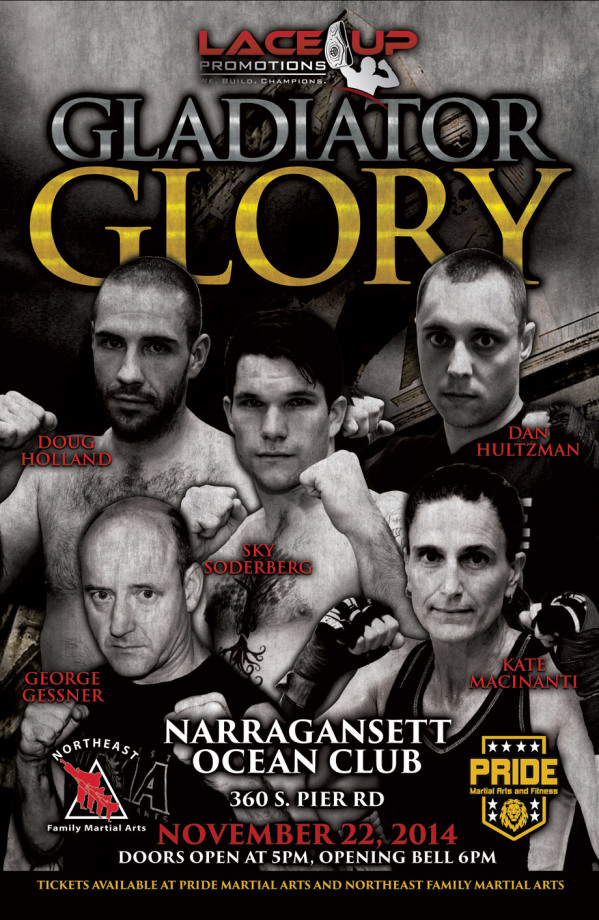 Gladiator Glory kickboxing event, Lace Up Promotions