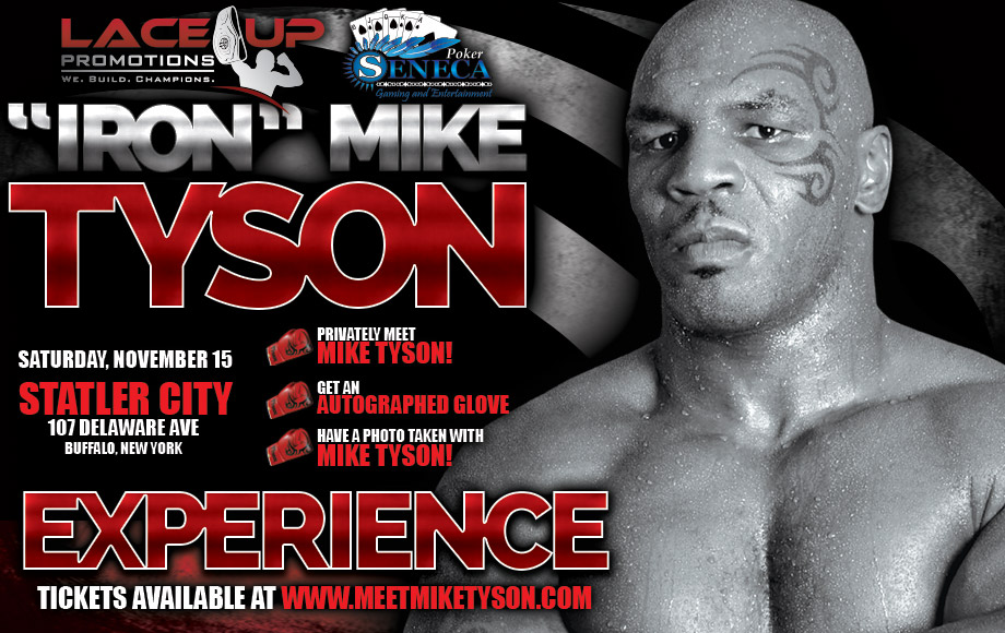 Mike tyson experience lace up promotions mike tyson in buffalo ny lace up promotions m4hsunfo